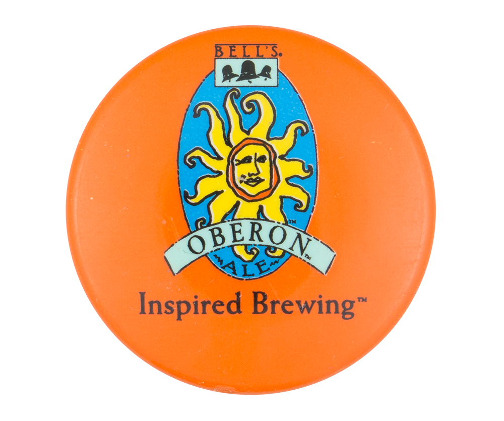Bell's Inspired Brewing Orange Beer Button Museum