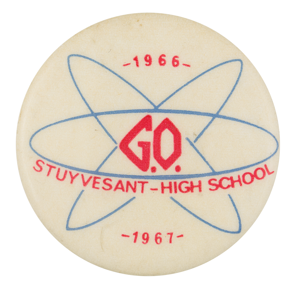 Stuyvesant High School G.O. 1966 Club Button Museum