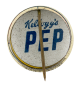 Kellogg's Pep Superman button back Advertising Button Museum