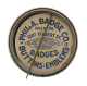 Pabst Blue Ribbon City button back Beer Button Museum