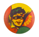 Robin In Yellow Red and Green Entertainment Button Museum