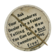 Official Tweeduroy Badge button back Self Referential Button Museum