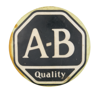 A-B Quality Advertising Button Museum