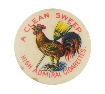 High Admiral Cigarettes Advertising Button Museum