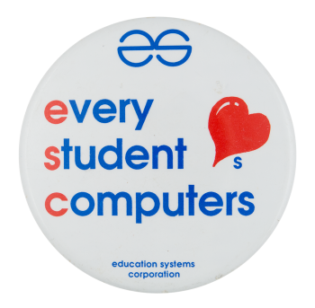 Every Student Loves Computers Advertising Button Museum