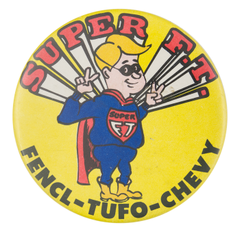 Fencl Tufo Chevrolet Advertising Button Museum