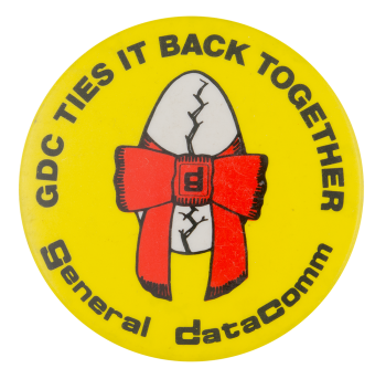 General Datacomm Advertising Button Museum