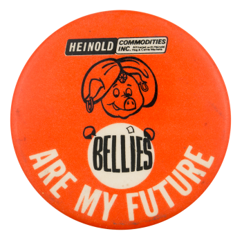 Heinold Commodities Advertising Button Museum