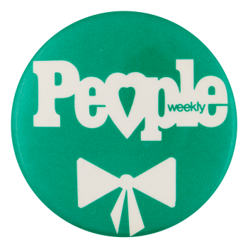 People Weekly Turquoise Advertising Button Museum