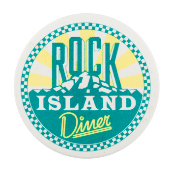 Rock Island Diner Advertising Button Museum