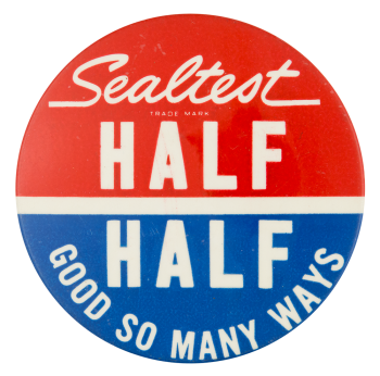 Sealtest Half And Half Advertising Button Museum