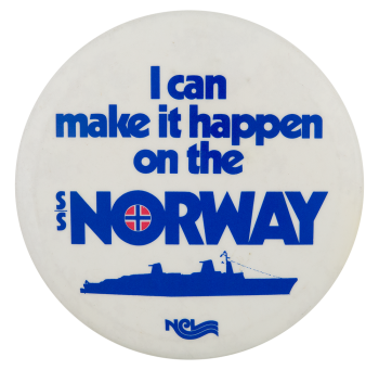 SS Norway Advertising Button Museum