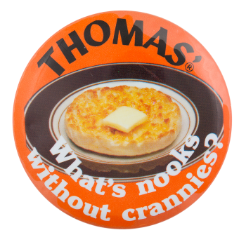 Thomas English Muffins Advertising Button Museum