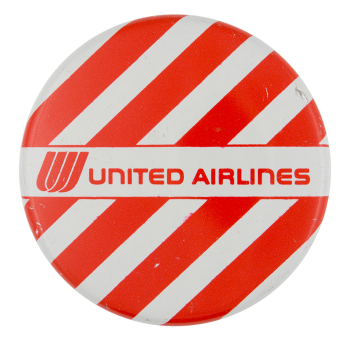 United Airlines Advertising Button Museum