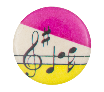 Abstract Art with Music Notes Art Button Museum