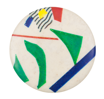 Abstract with Green Shapes Art Button Museum