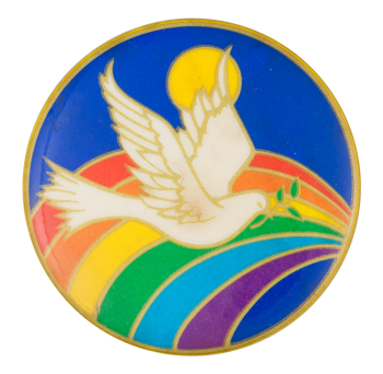 Dove and Rainbow Art Button Museum