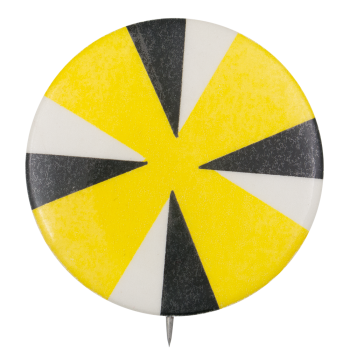 Four Triangles On Yellow Art Button Museum