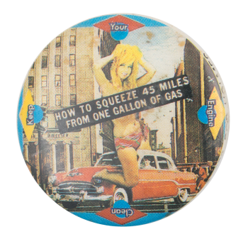 Keep Your Engine Clean Art Button Museum