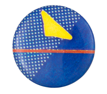 Red Line and Yellow Shape Art Button Museum