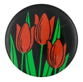 Red Tulips Art Button Museum
