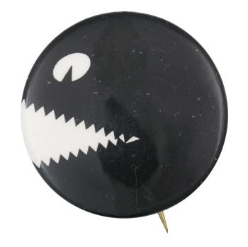 Sharp Toothed Face Art Button Museum