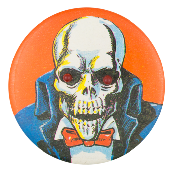 Skeleton in Bow Tie Art Button Museum