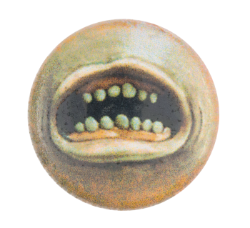 Toothy Mouth Illustration Art Button Museum