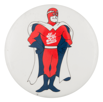 Bud Man Beer Button Museum