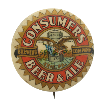Consumers Beer and Ale Beer Button Museum
