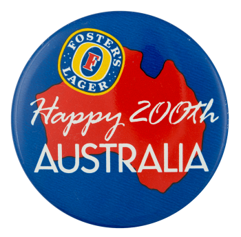 Foster's Lager Australia Beer Button Museum