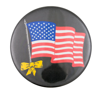 American Flag and Ribbon Cause Button Museum