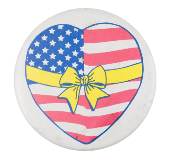 American Flag Heart Cause Button Museum