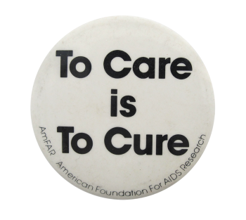 American Foundation for AIDS Research Cause Button Museum
