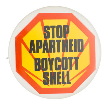 Boycott Shell Cause Button Museum