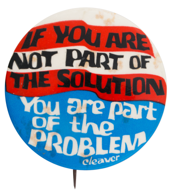 Part Of The Solution Cause Button Museum