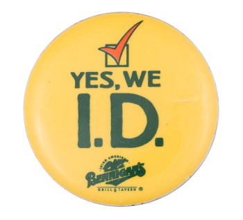 Yes We ID Cause Button Museum