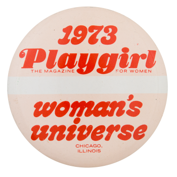 1973 Playgirl Magazine Chicago Button Museum