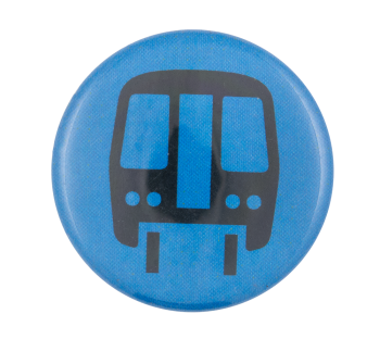 Chicago Elevated Train Blue Chicago Button Museum
