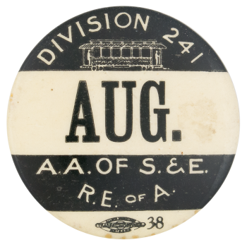 Amalgamated Association Of Street And Electric Railway Club Button Museum