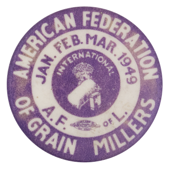 American Federation of Grain Millers Club Button Museum