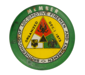Brotherhood Of Locomotive Firemen And Enginemen Club Button Museums