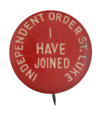 Independent Order St. Luke Club Button Museum