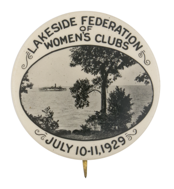 Lakeside Federation Of Women's Clubs Club Button Museum