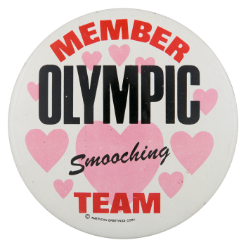 Member Olympic Smooching Team Club Button Museum