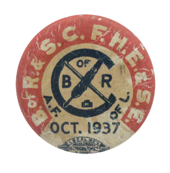 Railroad Clerks Union 1937 Club Button Museum