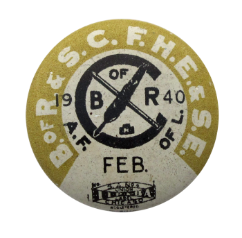 Railroad Clerks Union 1940 Club Button Museum