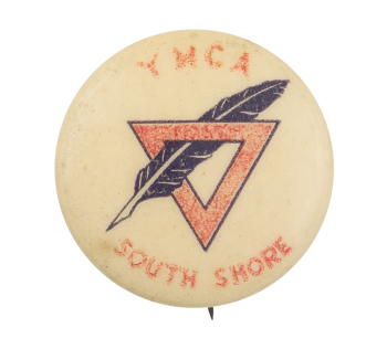 YMCA South Shore Red and Black Club Button Museum