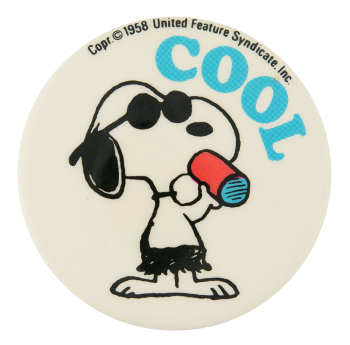 Snoopy Cool Entertainment Button Museum