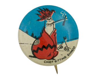 Chief Sitting Shmoo Entertainment Button Museum